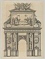Triumphal arch, from 'Éloges et discours sur la triomphante réception du Roy en sa ville de Paris ...' by Jean-Baptiste de Machault MET DP855544.jpg