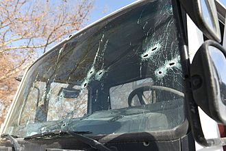 2017 Jerusalem truck attack - Image: Truck used in 2017 Jerusalem truck attack
