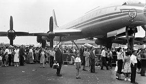 Tupolev Tu-114 - Tu-114 at the Paris Air Show, 1961