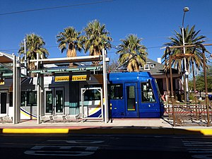 Sun Link - A Tucson Sun Link streetcar at the 3rd and University station.