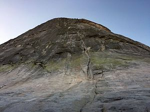 North face (Fairview Dome) - Regular Route from the bottom