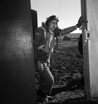 Tuskegee Airmen - Portrait of Tuskegee airman Edward M. Thomas by photographer Toni Frissell, March 1945