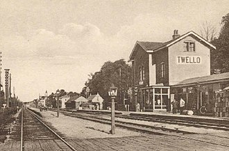 Twello train accident - Twello railway station in 1900 (before the accident)