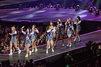 Twice (band) - Twice performing at KCON LA in July 2016