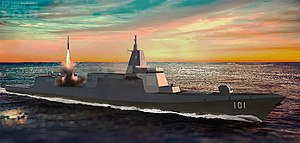 Cruiser - Chinas latest Type 055 destroyer has been classified by the United States Secretary of Defense as a cruiser because of its large size and armament.