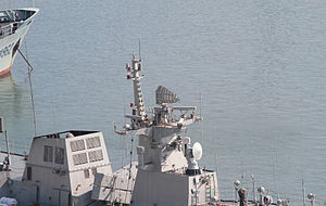 Type 364 Radar - Type 364 antenna on board Type 056 corvette