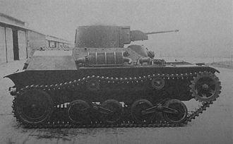 Type 97 Te-Ke tankette - Type 97 Te-Ke side view