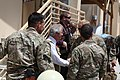 U.S. Sen. Bob Corker, center, interacts with U.S. Service members at Camp Integrity in Kabul province, Afghanistan, July 7, 2013 130707-N-QV903-002.jpg