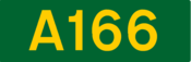 A166 road shield