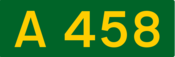 A458 road shield