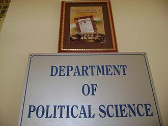 Karnatak University - Political Science Department