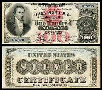 United States one hundred-dollar bill - Series 1878 $100 silver certificate