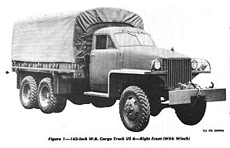 Studebaker US6 2½-ton 6x6 truck - Image: US6 Cargo U2