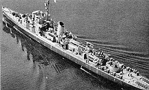 USS Acree (DE-167) underway at sea in August 1943