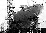 USS Compass Island (AG-153) in drydock stern 1977.jpg