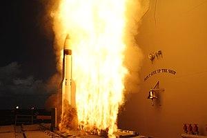 RIM-161 Standard Missile 3 - Image: USS Lake Erie (CG 70) SM 3 start