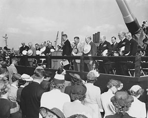 USS North Carolina launching ceremony NARA BS 73086.jpg