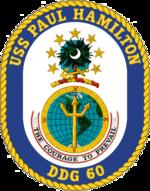 USS Paul Hamilton DDG-60 Crest