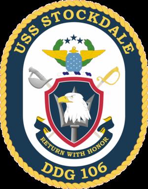 USS Stockdale (DDG-106) - Image: USS Stockdale COA