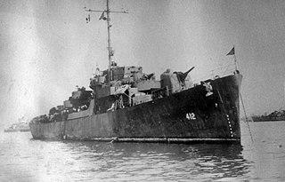 USS <i>Walter C. Wann</i> WWII US destroyer escort