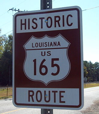 U.S. Route 165 - The former route of U.S. 165, designated as a Historic Route