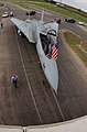 US Navy 040813-F-0017M-002 A decommissioned F-14A Tomcat is towed from San Angelo Regional Airport to Goodfellow Air Force Base, Texas.jpg