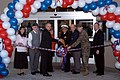 US Navy 060425-N-2789G-001 Commander Naval Base Kitsap (NBK) Capt. Reid Tanaka, and Defense Commissary Agency West director Richard Page cut the ribbon for NBK Bangor Commissary's grand re-opening ceremony.jpg