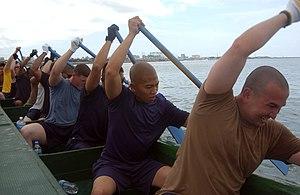 Teamwork - Rowing team.