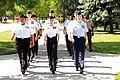 US Navy 080628-N-8848T-326 Junior Reserve Officers Training Corps (JROTC) cadets march in formation at Naval Station Great Lakes.jpg
