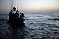 US Navy 080711-M-1391M-007 Sailors assigned to Riverine Squadron (RIVRON) 3 coast through Lake Quadsiyah on a Riverine patrol boat near Haditha.jpg