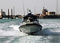 US Navy 090327-N-0803S-001 Sailors assigned to Maritime Expeditionary Security Forces patrol the waters surrounding the Khawr Al Amaya Oil Terminal in the U.S. 5th Fleet area of responsibility.jpg