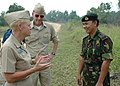 US Navy 090806-N-8539M-214 Rear Adm. Nora Tyson and Capt. Bill Kearns with Brig. Gen. Haji Aminuddin Ihsan.jpg