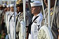 US Navy 111207-N-WP746-190 A Sailor is offering a wreath during the 70th anniversary of Pearl Harbor Day.jpg