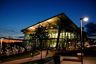 University of Akron - University of Akron's Student union at night