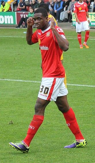 Uche Ikpeazu - Ikpeazu playing for Crewe Alexandra in 2014