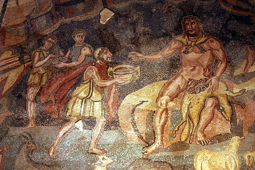 Ulysses and Polyphemus - Vestibule of Polyphemus - Villa Romana del Casale - Italy 2015 (1)