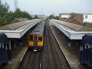 Watford DC line - An old Silverlink Metro train calls at Harlesden