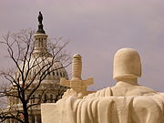 United States Capitol seen from the United States Supreme Court, Washington, DC - 20080326