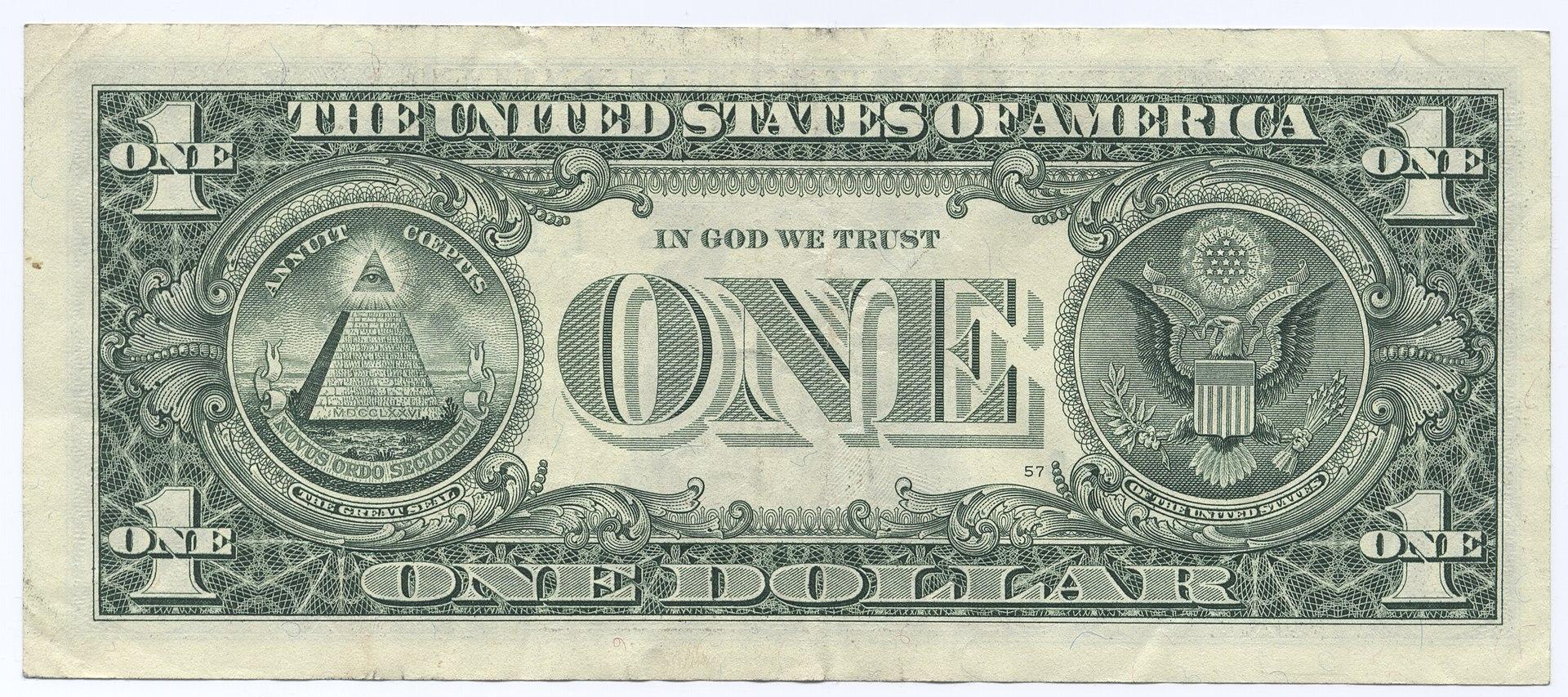 United States one dollar bill, reverse.jpg