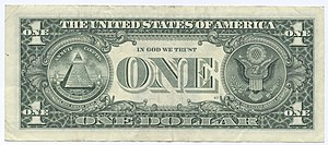 The United States one dollar note, like all ot...