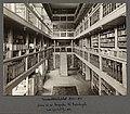 Universitetsbiblioteket 1850-1913 søndre del av langsalen til Fredriksgate (9493577718).jpg