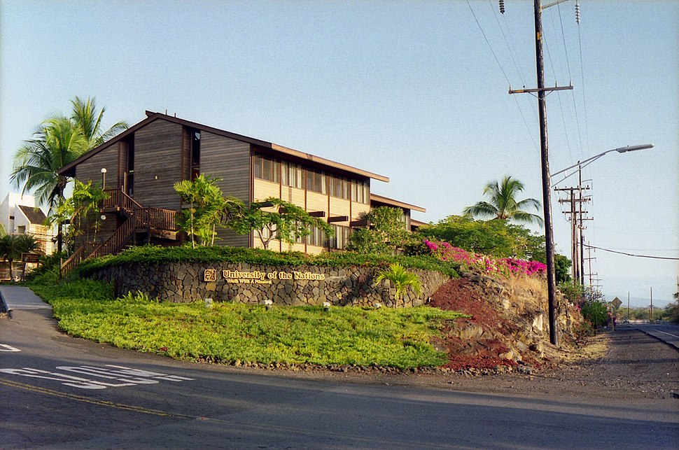 University of the Nations, Kona, from Roadside