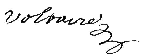 Unterschrift Voltaire