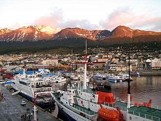 Ushuaia - View of the port