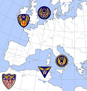 United States Strategic Air Forces in Europe - Area of operations, United States Strategic and Tactical Air Forces 1944–1945