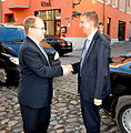 Välisminister Urmas Paet kohtus Tallinnas Läti uue välisministri Edgars Rinkēvičsega. 31. oktoober 2011 (6298410092).jpg
