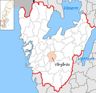 Vårgårda Municipality - Image: Vårgårda Municipality in Västra Götaland County