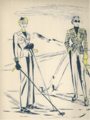 VERA BOREA-VERA BOREA gives the shape of men trousers to her Ski silhouette-FEMINA 1937 Dec.png