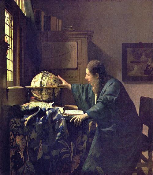 VERMEER - El astrónomo (Museo del Louvre, 1688)