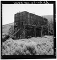 VIEW OF LARGE TIMBER FRAMED HOPPER, LOOKING NORTHEAST - Jones Mine, Scofield, Carbon County, UT HAER UTAH,4-SCOF,1-12.tif